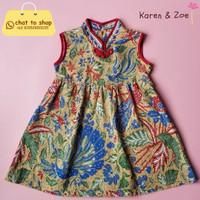 Batik Anak - Plum Dress - Tiga Negeri - Beige
