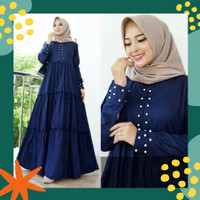 Dress Muslim Wanita Jumbo AB KHANSA XL XXL XXXL Baju Gamis Big Size