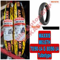 70/90-14 & 80/90-14 Maxxis M6167H Sepasang Ban Motor Ring 17 Tubetype