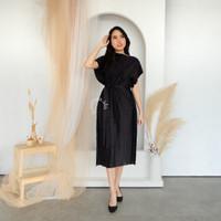 Manata Esme Plisket Premium Dress - Black