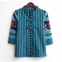 atasan wanita blouse batik lurik tenun ethnic blanket
