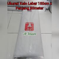 Kain Kafan/Mori Bahan Tipis Bersih Cap Silver Bell L-150cm x P-50m