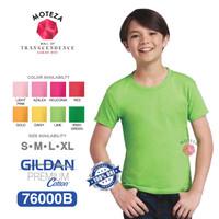 Kaos Polos - GILDAN Premium Cotton 76000B - YOUTH KIDS - WARNA (Warm) - YXS, Irish Green