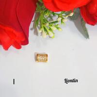 PL2477 Liontin tabung permata liontin kalung bandul kalung lapis emas