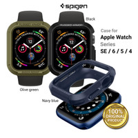 Case Apple Watch 44mm 40mm Series 6 5 4 SE SPIGEN Rugged Armor Soft