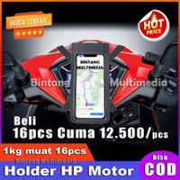 Tas Holder HP di Motor Anti Air Gojek Grab Waterproof Handphone Slim