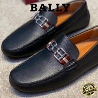 Sepatu Bally Original Pria Slip On Bally Pria Leather Import