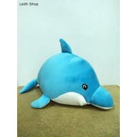 Boneka Lumba Dolphin Abu Sea World Ikan Fish Doll Mainan Bayi Lucu