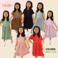 Daster Anak Perempuan Piyama Dress Baju Tidur Cewek Terusan Rayon 1-8 - Green Pastel, No 1