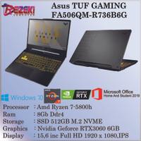 ASUS TUF FA506QM-AMD RYZEN 7-5800H|8GB|512GB|RTX 3060 6GB|WIN