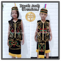 Baju Adat Dayak Anak Bludru Payet Mix TK-SD Kecil
