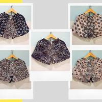 Celana Pendek wanita rayon dewasa motif batik bunga - RANDOM