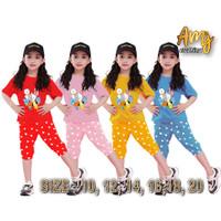 setelan anak perempuan baju setelan anak perempuan 4/10 tahun - Biru, 4-5 tahun