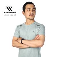 Kaos Baju Olahraga Dry Fit Cowok Pria Gym Running Sepeda Wyloz Sport