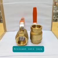 ball valve onda 1/4 kuningan