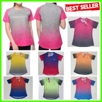 NEW Baju Fitnes Lari Running Gym Olahraga WANITA Kaos Olah Raga Senam