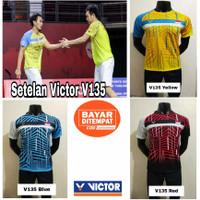 Setelan baju badminton dewasa/Kaos badminton victor V135 The daddies