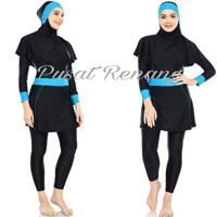 Pakaian Baju Celana Kerudung Renang Wanita Muslimah Dewasa Cup Bra