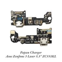 Papan Konektor Papan Charger + Mic Asus Zenfone 3 Laser ZC551KL Ori