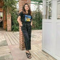 Amber Chino Pants Wanita / Celana Korea Cewek Terbaru / Baggy Kulot