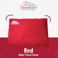 BANTAL BAYI ANTI PEYANG ORIGINAL BABY CLOUDFOAM KULIT KACANG HIJAU - Merah