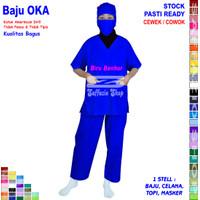 Baju OKA, Baju Perawat / Baju OK, Pria Wanita Lengan Pendek