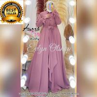 Baju Gamis Wanita Muslim Dress Muslimah Terbaru Azzura Maxi Ceruty Bab