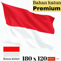 MURAH!! bahan katun bendera merah putih ukuran 180x120 bonus klebet