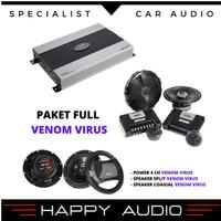 Paket audio mobil full sound system VENOM VIRUS original by Venom VS