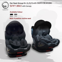 CAR SEAT BABY ELLE SPIN 360 WITH CANOPY