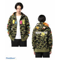 Bape x READYMADE Tiger Shark Oversized Fullzip Hoodie LIMITED EDITION