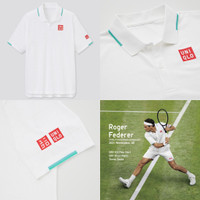 Uniqlo Roger Federer Wimledon 2021 NK Dry Ex Polo Shirt Tennis Tenis