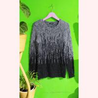 Fur Knit Sweater Baju Atasan Wanita Preloved Bekas Import Murah