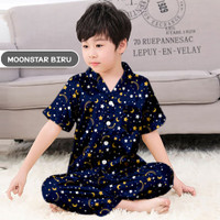 Baju Tidur Piyama Anak Laki Laki / Perempuan Usia 6-8 Tahun (Size 8)
