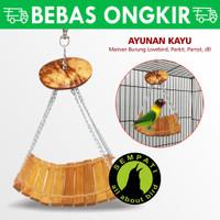 AYUNAN KAYU GOYANG MAINAN RANTAI BURUNG LOVEBIRD PARROT DLL AYGO