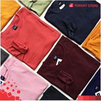 Kaos Polos Rib Lengan Panjang Wanita Premium 2x1 All Size Unisex Murah