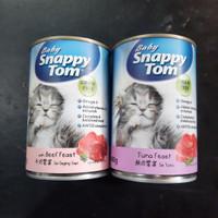 snappy tom baby kaleng 400 gr makanan anak kucing kitten can basah