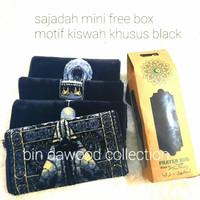 sajadah kiswah mini plus box/oleh oleh haji/souvenir