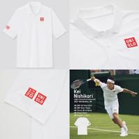 Uniqlo Kei Nishikori Wimledon 2021 NK Dry Ex Polo Shirt Tennis Tenis