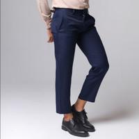 Broodis Celana Ankle Navy Pants Best Seller