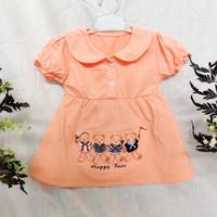 baju bayi perempuan 6 12 bulan beruang orange