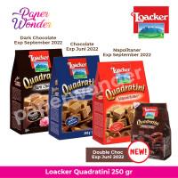 Loacker Quadratini Dark Chocolate Wafer Cokelat Napolitaner [250 g]