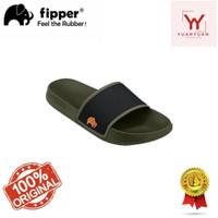 Sandal Fipper Slip On Green Army Black Mustard Unisex Sandal Slip On