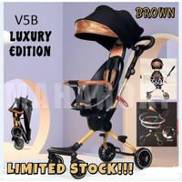BABY STROLLER BAOBAOHAO V5 MAGIC TRIKE CABIN SIZE/KERETA DORONG BAYI - V5B-BROWN