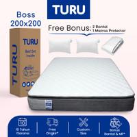 Kasur Pocket Spring Bed TURU BOSS ukuran 200x200 (Super King) + Bantal