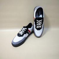sepatu sneakers kulit asli casual - PUTIH KOMBINASI, 42