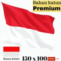 MURAH !! Bahan katun bendera merah putih ukuran 150x100 bonus klebet