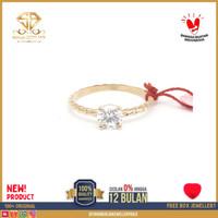 SBJ - cincin emas kuning wanita perhiasan emas asli 375 CMM 12 R12