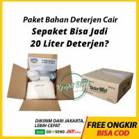 Determat Paket Bahan Deterjen Cair Wangi Mesin Cuci Laundry Londri