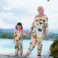 Piyama couple ibu anak, Baju tidur anak premium katun rayon usia 3-10T